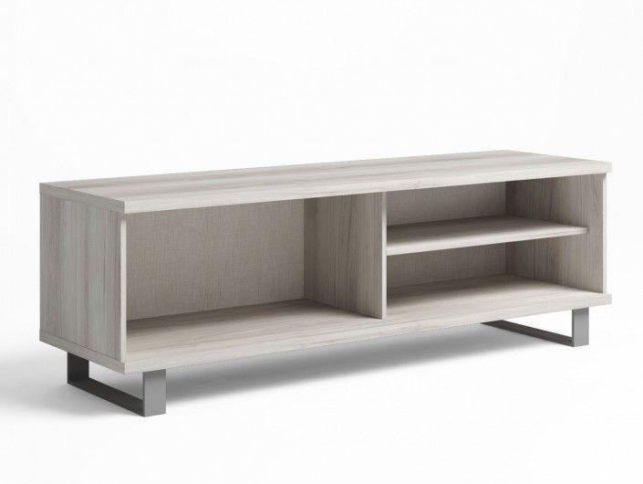 Mueble de salón modular ébano/ amarillo