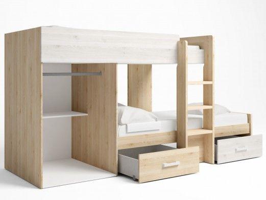 Sofá cama clic-clac polipiel blanco