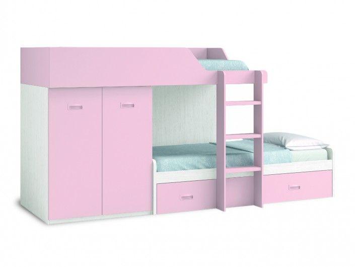 Dormitorio juvenil con cama abatible horizontal - Dormitorio juvenil cama abatible ...
