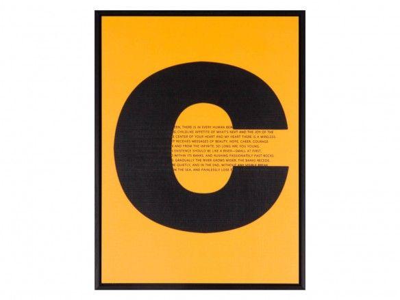Cuadro letras color negro  merkamueble