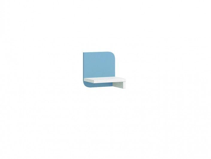 Estante pared color ártico-cobalto  merkamueble