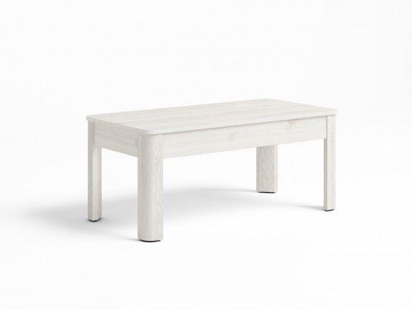 Mesa de centro elevable color blanco nordic  merkamueble