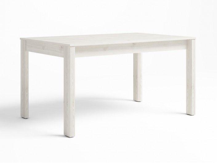 Mesa de comedor extensible color blanco nordic  merkamueble