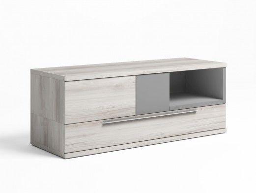 Mueble tv con luz led color...