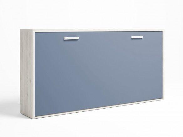 Cama abatible horizontal color blanco nordic-azul talco  merkamueble