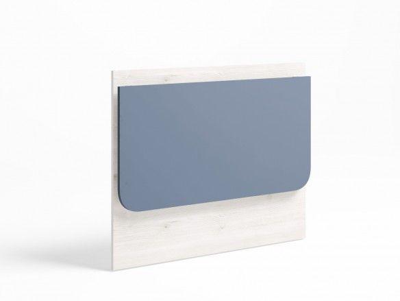 Mesa estudio plegable color blanco nordic-azul talco  merkamueble