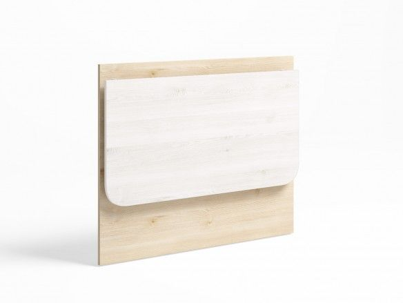 Mesa estudio plegable color pino danés-blanco nordic  merkamueble
