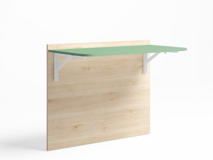 Mesa estudio plegable color pino danés-verde talco  merkamueble
