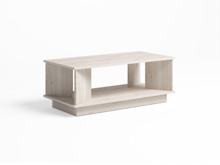 Mesa de centro rectangular color blanco nordic  merkamueble