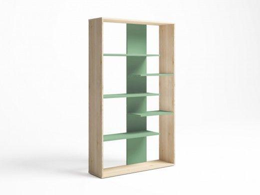 Estantería color pino danés-verde talco  merkamueble