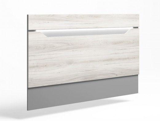 Cabecero de 150 cm con luz led color shamal-gris tormenta  merkamueble