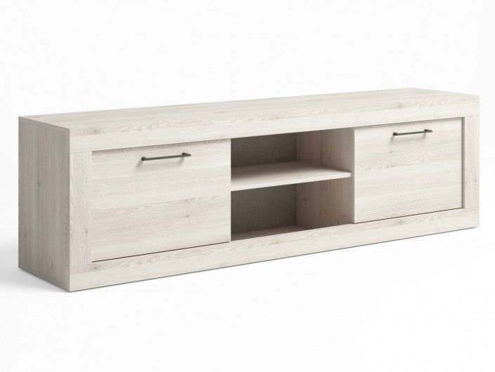 Mueble tv 2 puertas color blanco nordic  merkamueble