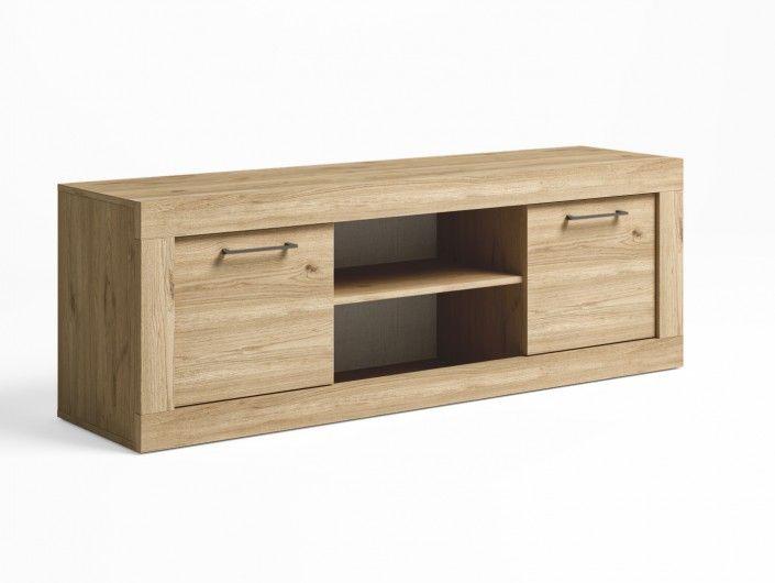 Mueble tv 2 puertas color naturale  merkamueble