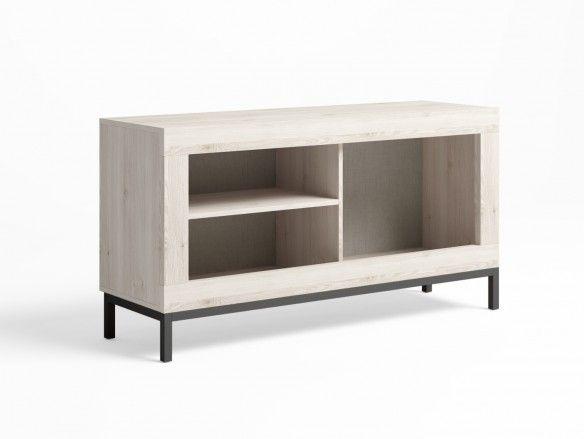 Mueble tv con patas y 1 puerta color blanco nordic  merkamueble