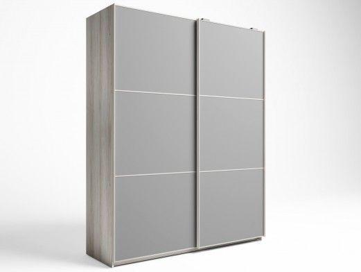 Armario de 2 puertas correderas color shamal-gris tormenta  merkamueble