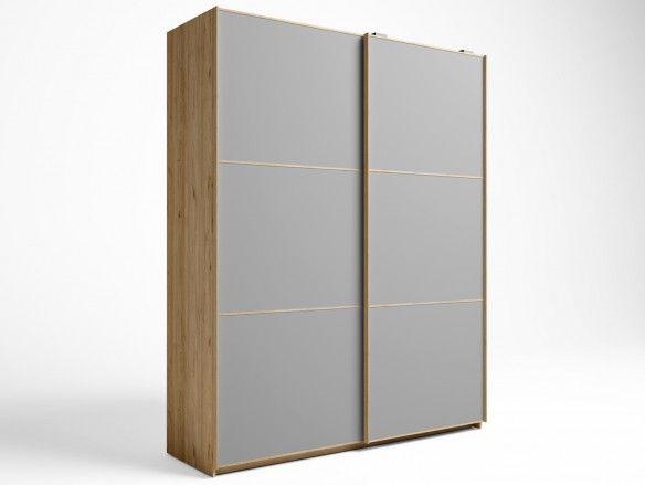 Armario 2 puertas correderas color naturale-gris tormenta  merkamueble