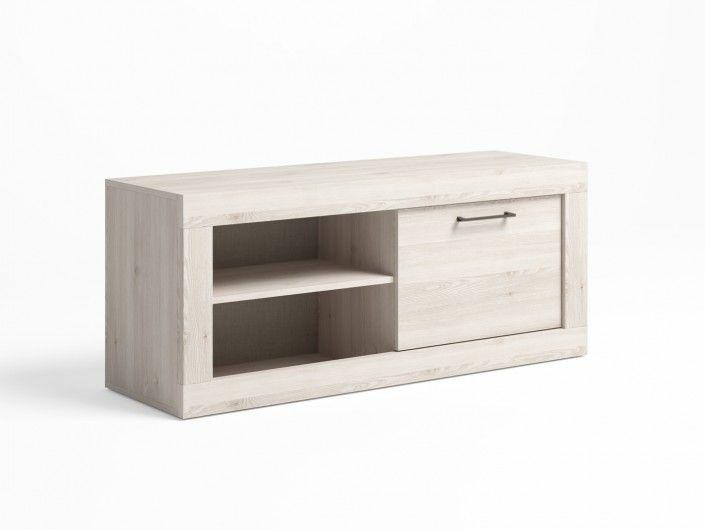 Mueble tv con 1 puerta color blanco nordic  merkamueble