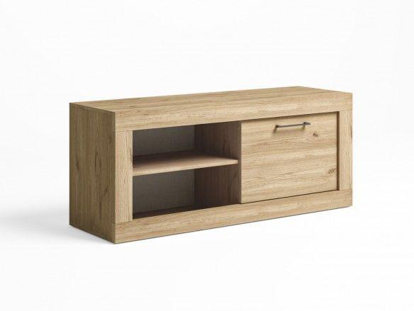 Mueble tv con 1 puerta color naturale  merkamueble