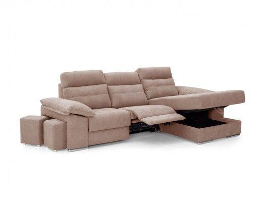 Chaise longue eléctrica tapizado beige  merkamueble