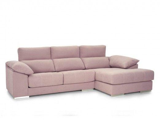 Chaise longue con asientos deslizantes tapizado rosa  merkamueble