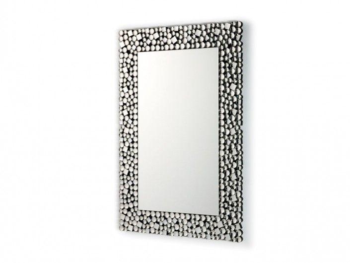 Espejo rectangular color plata  merkamueble