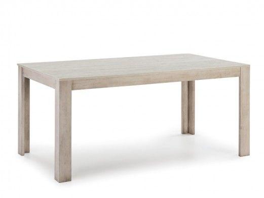 Mesa de comedor rectangular fija color marrón  merkamueble