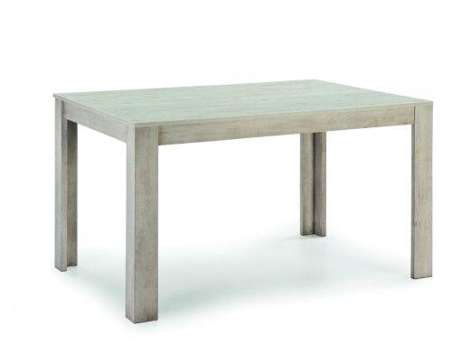 Mesa de comedor rectangular fija color madera chapada  merkamueble