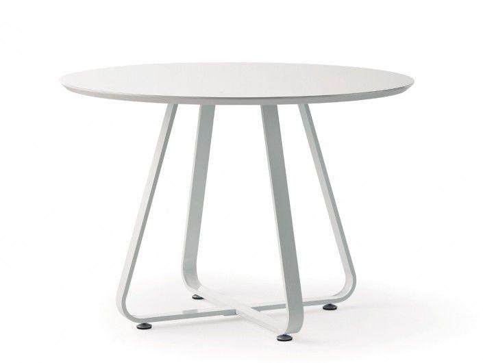 Mesa de comedor redonda fija blanca  merkamueble