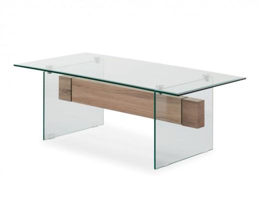 Mesa de centro cristal y...