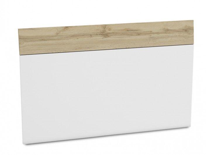Cabecero para somier de 150 cm color blanco y roble hércules  merkamueble