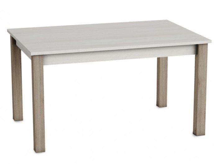 Mesa de comedor rectangular extensible color polar-roble natural  merkamueble