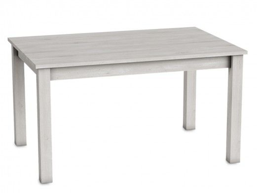 Mesa de comedor rectangular extensible color azahar  merkamueble