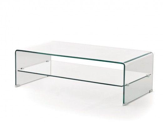 Mesa de centro rectangular cristal  merkamueble