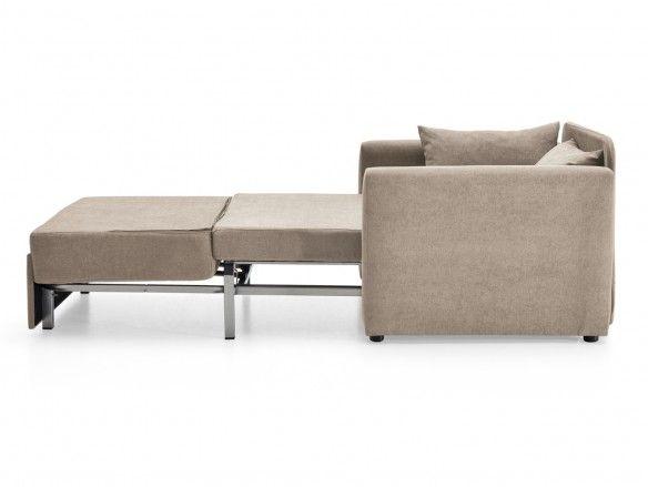 Sofá cama sistema de apertura extensible tapizado beige  merkamueble