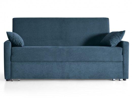 Sofá cama sistema de apertura extensible tapizado marino  merkamueble