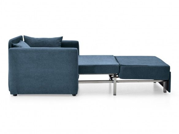 Sillón cama sistema de apertura extensible tapizado marino  merkamueble