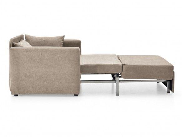 Sillón cama sistema de apertura extensible tapizado beige  merkamueble