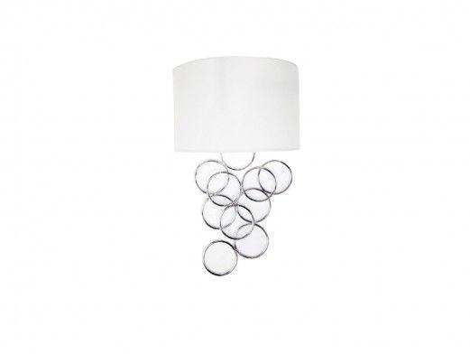 Lámpara de pared metálica