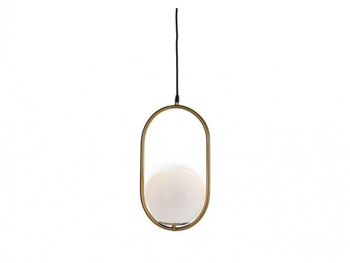 Lámpara de techo metal y cristal  merkamueble