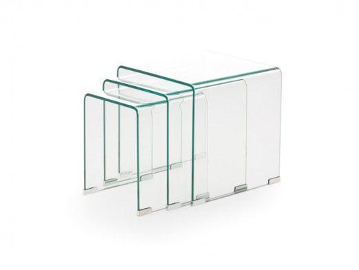 Mesas nido de cristal