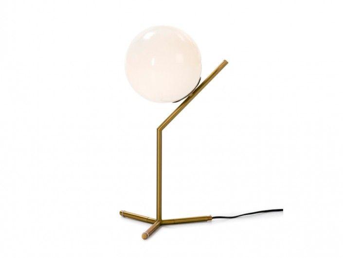 Lámpara de sobremesa metal y cristal  merkamueble