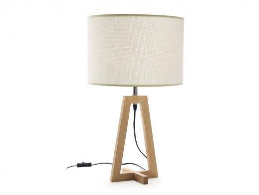 Lámpara de sobremesa madera