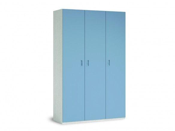 Armario 3 puertas color ártico-cobalto  merkamueble