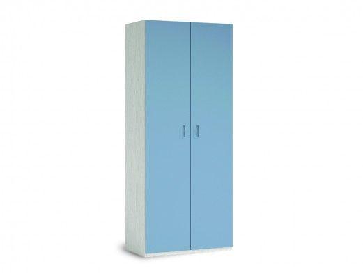 Armario 2 puertas color ártico-cobalto  merkamueble