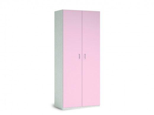 Armario 2 puertas color ártico-rosa  merkamueble