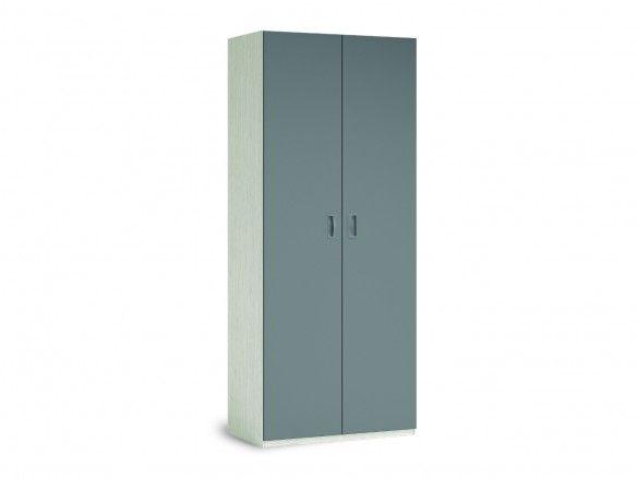 Armario 2 puertas color ártico-pizarra  merkamueble