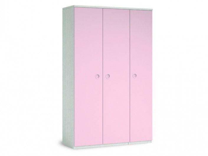 Armario 3 puertas color ártico-rosa  merkamueble