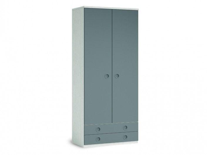 Armario 2 puertas y 2 cajones color ártico-pizarra  merkamueble