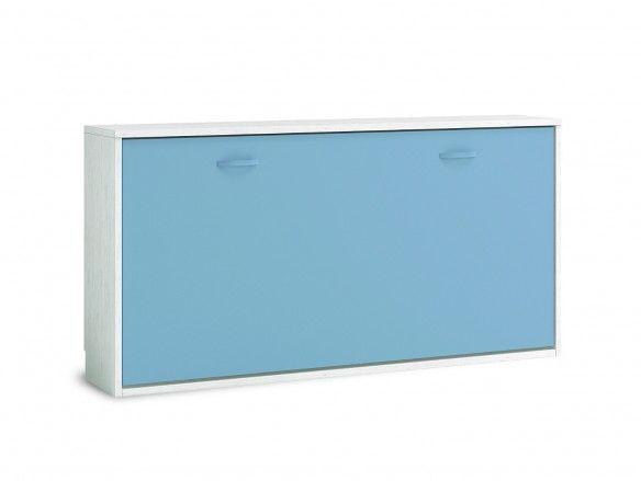 Cama abatible horizontal color ártico-cobalto  merkamueble