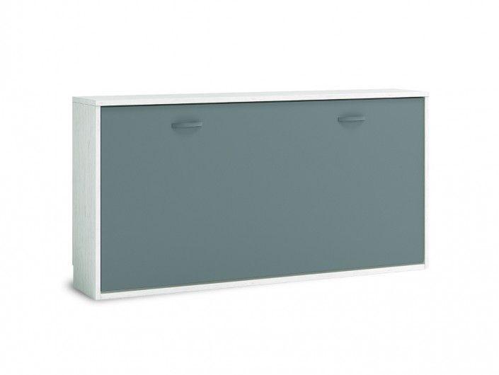 Cama abatible horizontal color ártico-pizarra  merkamueble
